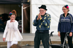 Paul's performance the original spinners bristol, clowning for dementia, Dance for Parkinson's.